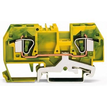 Złączka 2-przewodowa 6mm2 żółto-zielona 282-907