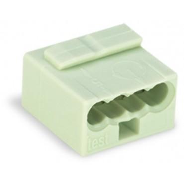 Szybkozłączka do puszek instalacyjnych MIKRO 4x 0,6-0,8mm2 jasnoszara 243-304 /100szt./