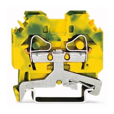 Złączka szynowa ochronna 6mm2 żółto-zielona 282-107