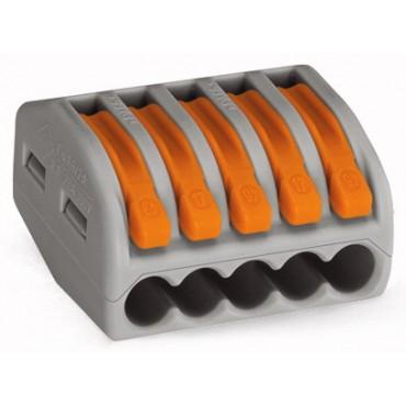 Szybkozłączka 5x 0,08-4mm2 z dźwigniami zwalniającymi jasnoszara 222-415 /40szt./
