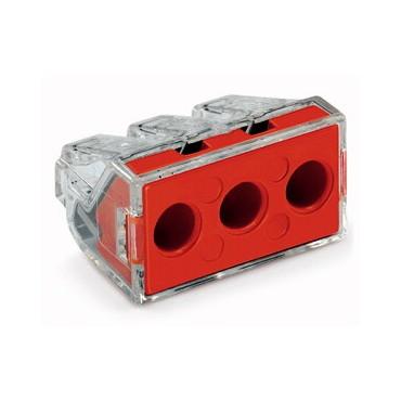 Szybkozłączka 3x 2,5-6mm2 transparentna 773-173 /50szt./