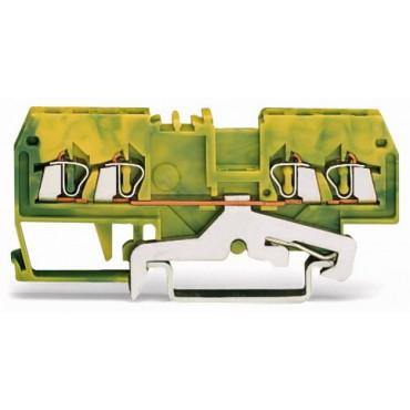 Złączka 4-przewodowa 1,5mm2 żółto-zielona 279-837
