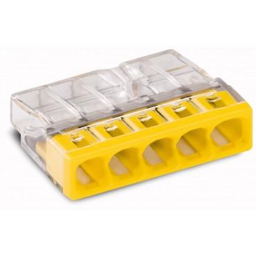 Szybkozłączka 5x 0,5-2,5mm2 transparentna/żółta 2273-205 /100szt./