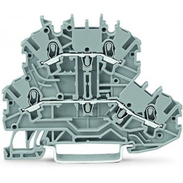 Złączka szynowa 2-piętrowa L/L 1mm2 szara 2000-2201 TOPJOBS