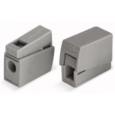Szybkozłączka oświetleniowa 2x 1-2,5mm2 jasnoszara 224-101 /100szt./