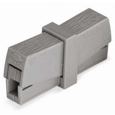 Złączka 2x 0,5-2,5mm2 jasnoszara 224-201 /50szt./