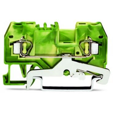Złączka szynowa ochronna 2,5mm2 żółto-zielona 280-907