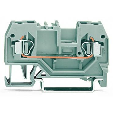 Złączka szynowa 2-przewodowa 2,5mm2 szara 280-901