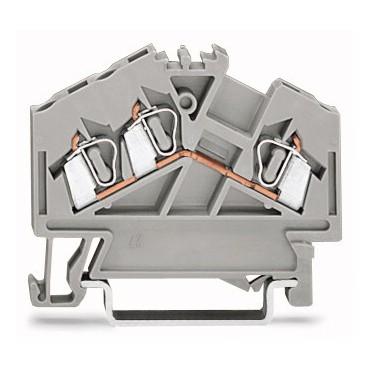 Złączka szynowa 3-przewodowa 2,5mm2 szara 280-641