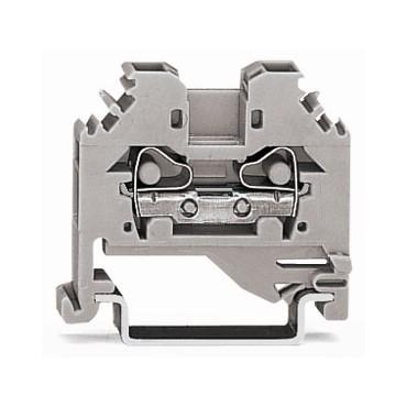 Złączka szynowa 2-przewodowa 4mm2 szara 281-101