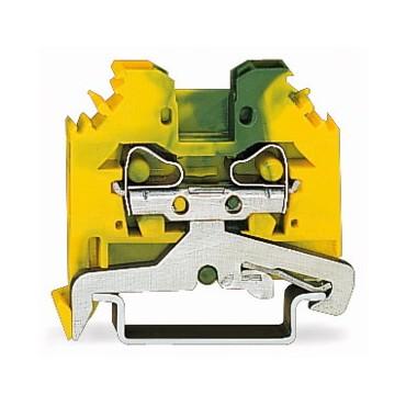 Złączka szynowa ochronna 4mm2 żółto-zielona 281-107