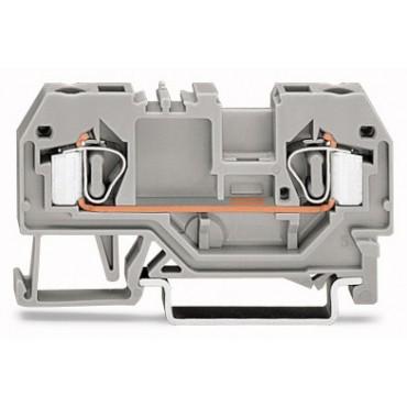 Złączka szynowa 2-przewodowa 4mm2 szara 281-901