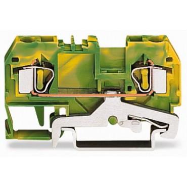 Złączka szynowa ochronna 4mm2 żółto-zielona 281-907