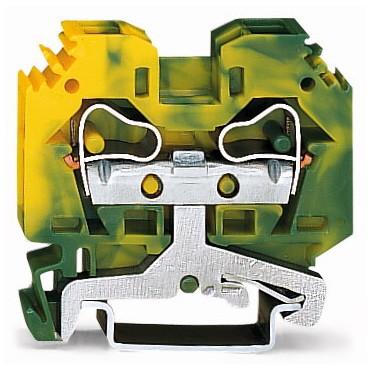 Złączka 2-przewodowa 10mm2 żółto-zielona 284-107