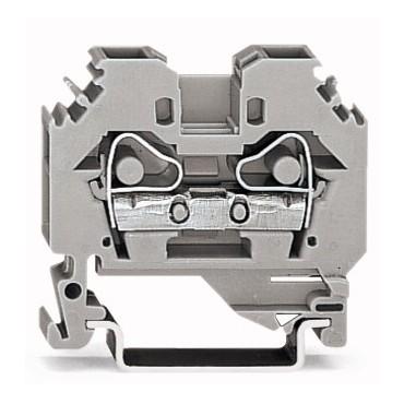 Złączka szynowa 2-przewodowa 6mm2 szara 282-101