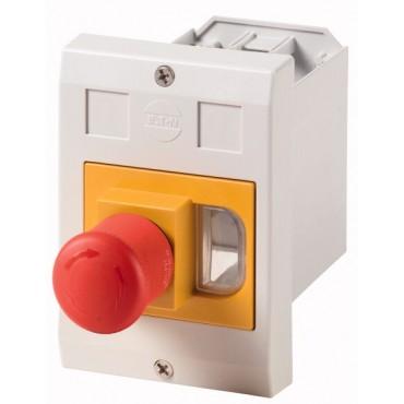 Obudowa wyłącznika silnikowego IP55 podtynkowa z przyciskiem grzybkowym E-PKZ01-PVT 281636