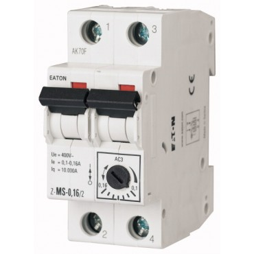 Wyłącznik silnikowy 2P 0,18kW 0,4-0,63A Z-MS-0,63/2 248392