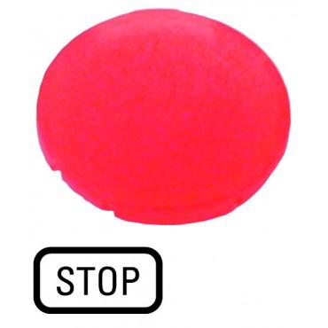 Soczewka przycisku 22mm płaska z opisem STOP M22-XDL-R-GB0 218326