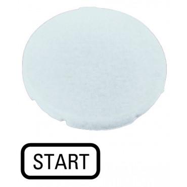 Wkładka przycisku 22mm płaska biała z opisem START  M22-XD-W-GB1 218197