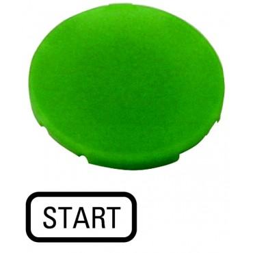 Soczewka przycisku 22mm płaska zielona z symbolem START M22-XD-G-GB1 218196