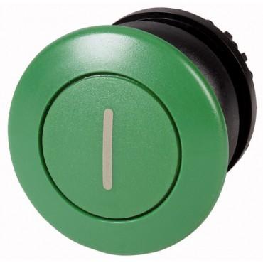 Napęd przycisku grzybkowego zielony z opisem z samopowrotem M22-DP-G-X1 216723