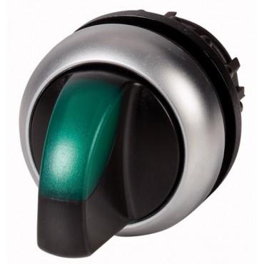 Napęd przełącznika 2 położeniowy zielony z podświetleniem bez samopowrotu M22-WLKV-G 284395