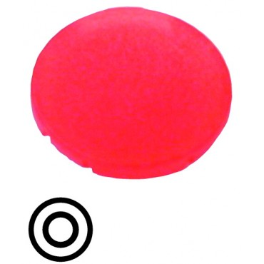 Soczewka przycisku 22mm płaska czerwona z symbolem STOP 0 M22-XDL-R-X0 218159