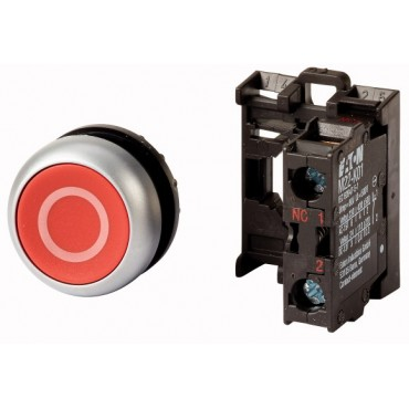 Przycisk sterowniczy czerwony /O/ 1R 22mm z samopowrotem M22-D-R-X0/K01 216510