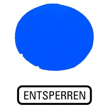 Soczewka przycisku 22mm płaska niebieska bez opisu 22mm M22-XDL-B 216445