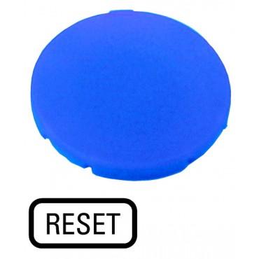 Wkładka przycisku 22mm płaska niebieska z opisem RESET M22-XD-B-GB14 218204