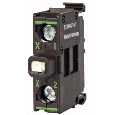 Oprawka z LED biała 230V AC M22-LEDC230-W 216566