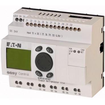 Sterownik easyControl 12we/8wy (tranzystorowe) 24V DC klawiatura wyświetlacz LCD EC4P-221-MTXD1 106391