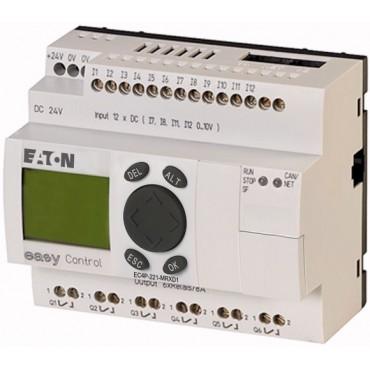 Sterownik easyControl 24V DC 12we/6wy (przekaźnikowych) klawiatura wyświetlacz LCD EC4P-221-MRXD1 106393
