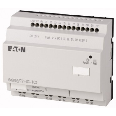 Przekaźnik programowalny 24V DC 12we, 8wy (tranzystorowe)  EASY721-DC-TCX 274122