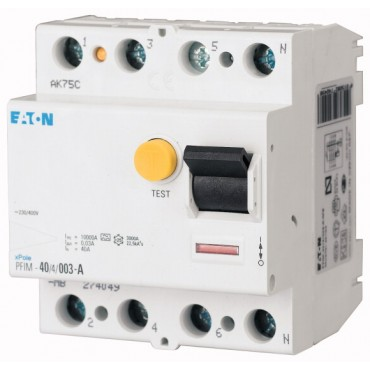 Wyłącznik różnicowoprądowy 4P 25A 0,03A typ AC PFIM-25/4/003-MW 235406