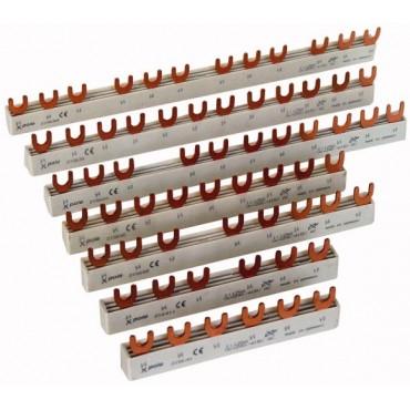 Szyna łączeniowa 1P 63A 10mm2 widełkowa (6 mod.) EVG-1PHAS/6MODUL 215638