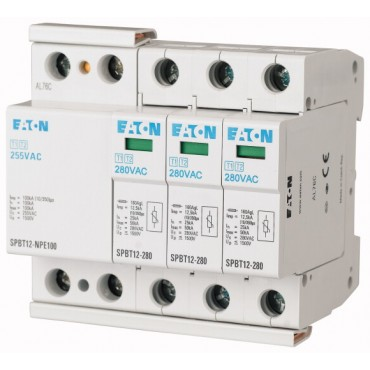 Ogranicznik przepięć B+C 4P 100kA 1.5kV SPBT12-280-3+NPE 158332