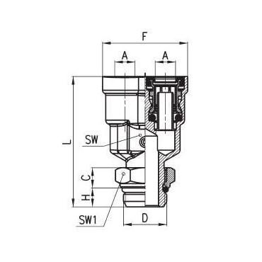 Złączka wtykowa C-TRUCK trójnik typu Y model 9450