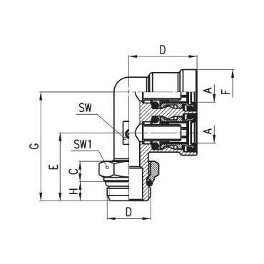 Złączka wtykowa C-TRUCK trójnik typu F model 9402