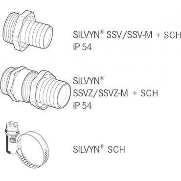 Wąż osłonowy PVC SILVYN SI 14x18 srebnoszary 61713330 /50m/