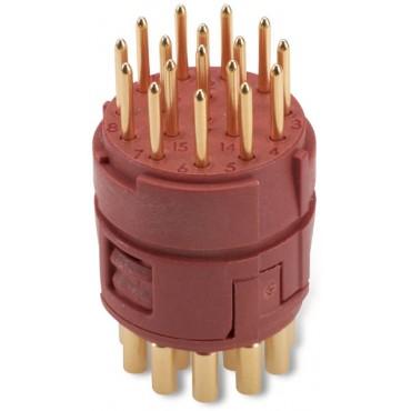 Wkład 17 stykowy do złączy M23 męski lutowany EPIC M23 E-Part 73028500
