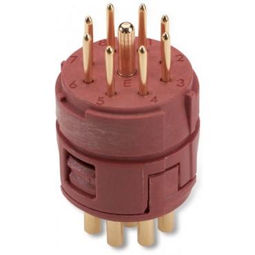 Wkład 8+1 stykowy do złączy M23 męski lutowany EPIC M23 E-Part SLM 73002744