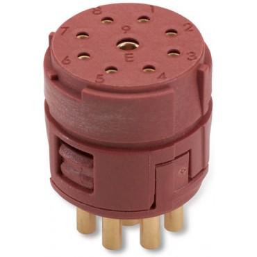 Wkład 8+1 stykowy do złączy M23 żeński lutowany EPIC M23 E-Part 73002746