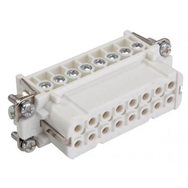 Wkład złącza 16P+PE żeński 16A 250V EPIC H-A 16 BS 10531000