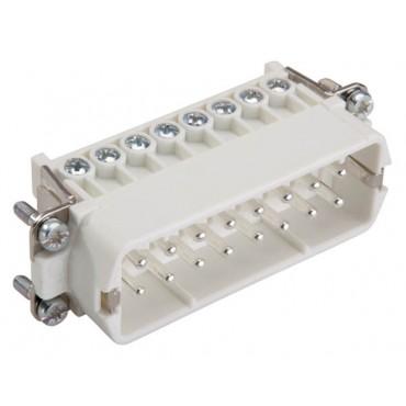 Wkład złącza 16P+PE męski 16A 250V EPIC H-A 16 SS 17-32 DR PH1 10540000