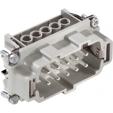 Wkład złącza 10P+PE męski 16A 500V EPIC H-BE 10 SS 10192000