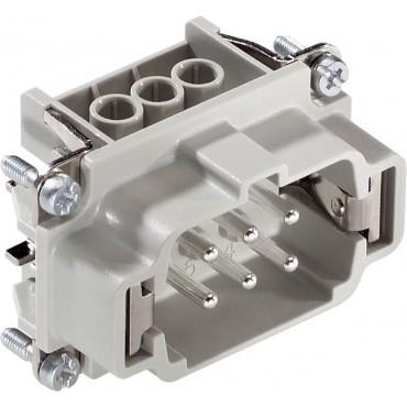 Wkład złącza 6P+PE śrubowy męski EPIC H-BE 6 SS 10190100