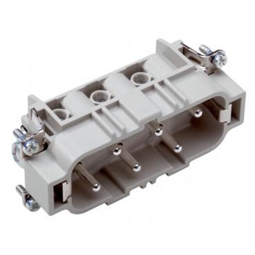 Wkład złącza 6P+PE męski 35A 500V EPIC H-BS 6 SS 10170000