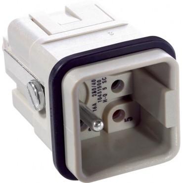 Wkład złącza 5P+PE męski 16A 230/400V EPIC H-Q 5 SC 10431500