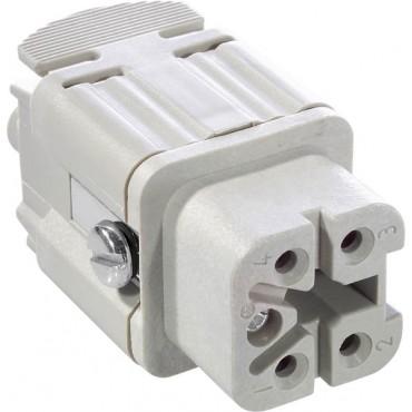 Wkład złącza 4P+PE żeński 23A 400V EPIC H-A 4 BS 10432000